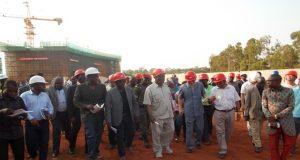 Visite du chantier par une délégation parlementaire
