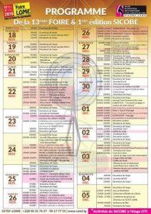 Programme de la foire Togo 2000