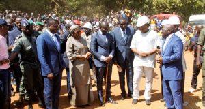 Faure Gnassingbé au lancement des travaux du PUDC à Tchamba