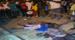 Accident devant l'entrée principale de la foire Togo 2000