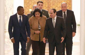 Faure Gnassingbé au Caire en Egypte