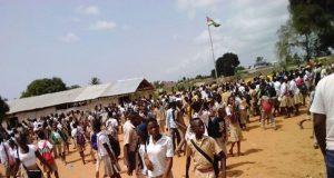 Les élèves en mouvements de grève