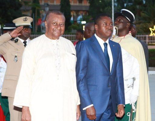 Gilchrist Olympio à droite du Président Faure Gnassingbé