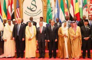 Les dirigeants et représentants des Etats au Sommet Islamique arabo-américain