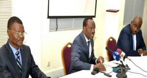 Le ministre Georges Kwawu Aïdam présidant la réunion