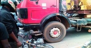 Un cas d'accident à Adidogomé à Lomé