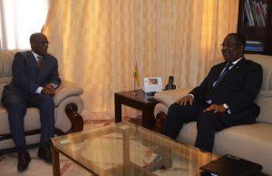 Abdallah BOUREIMA et Komi Sélom Klassou vendredi à Lomé
