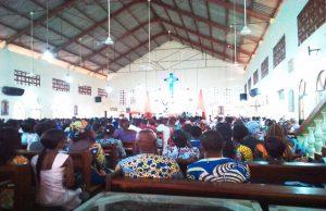 Les fidèles de l'EEPT, paroisse d'Agoè Centre à Lomé