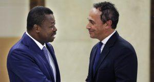 Faure Gnassingbé et Marc Fonbaustier vendredi à Lomé