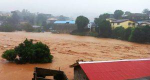 Inondation à Freetown en Sierra Leone