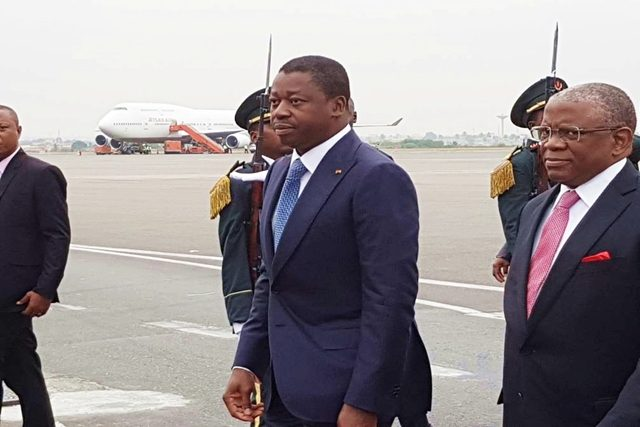 Arrivée de Faure Gnassingbé à Luanda