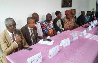 Les responsables des partis organisateurs de la marche