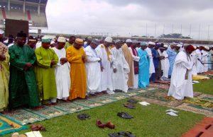 Grande prière au stade de Kégué ce matin