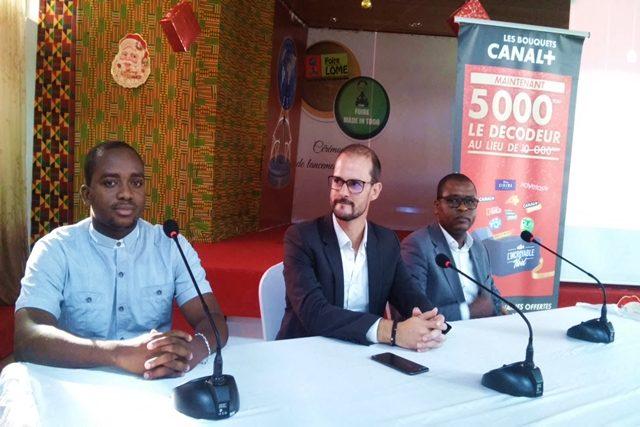 Le DG de Canal + Togo (milieu) lors du lancement de l'offre