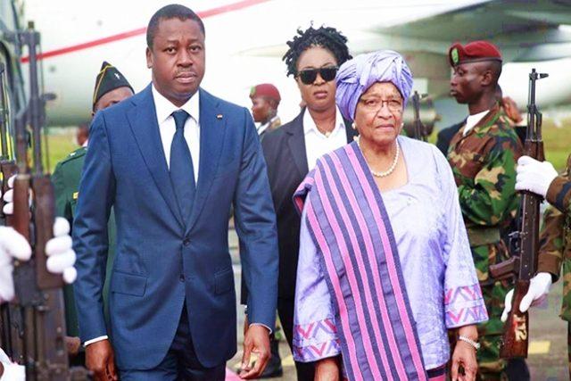 Faure Gnassingbé et la présidente sortante du Libéria, Sirleaf Ellen