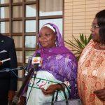 Mme Fatimata Maman Sidibé (au micro)
