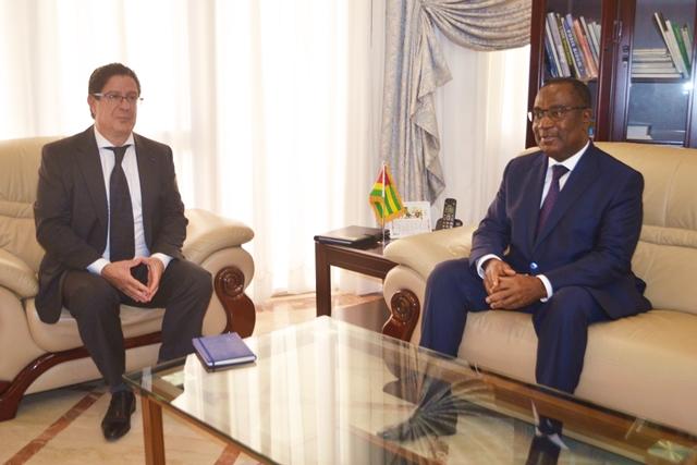 Marc Vizy et Sélom Klassou ce mardi à Lomé