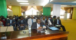 Le ministre Sani Yaya dans son intervention