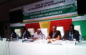 Des membres du HCRRUN et de Aimes-Afrique