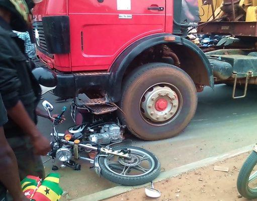 Image d'un accident à Adidogomé à Lomé