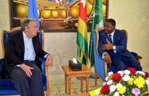 António Guterres et Faure Gnassingbé