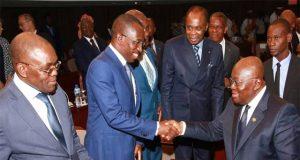 Nana Akufo-Addo lors d'une session du dialogue politique à Lomé