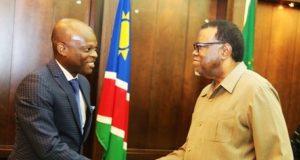 Robert DUSSEY et Dr. Hage GEINGOB vendredi à Windhoek