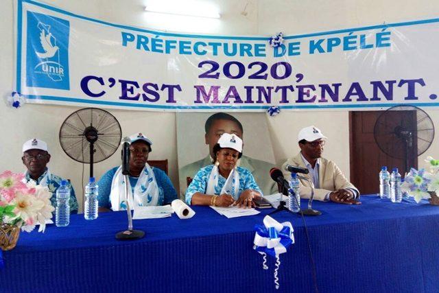 Mme Yawa Djigbodi Tségan (2ème de la droite) lors de la cérémonie