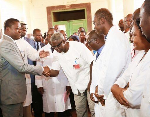 Faure Gnassingbé ce mardi au CHU-SO de Lomé