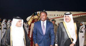 Faure Gnassingbé à sa descente d'avion