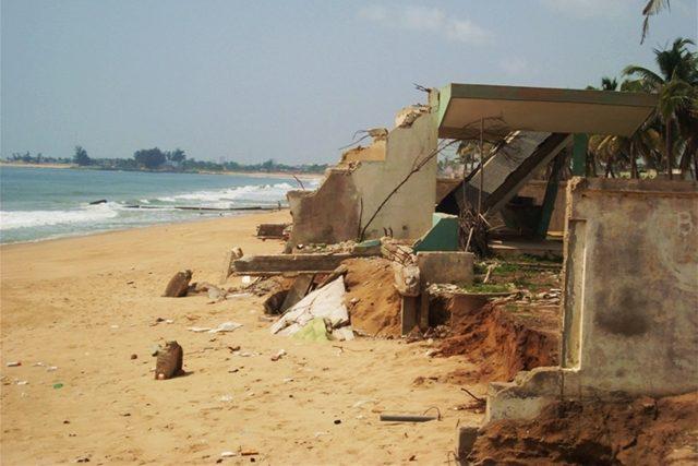 Une image de l'érosion côtière