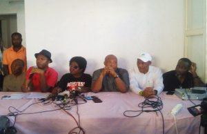 Des leaders de la coalition en conférence de presse ce mercredi à Lomé