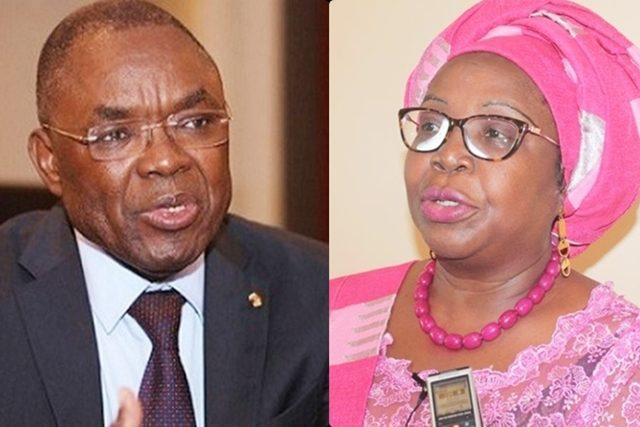 Payadowa Boukpessi et Mme Brigitte Adjamagbo-Johnson