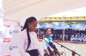 La Ministre Cina Lawson dans son intervention lors du lancement