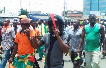 Des militants de l'opposition lors d'une marche à Lomé (archives)