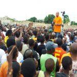 Jean Pierre Fabre au meeting d'Agoè Zongo