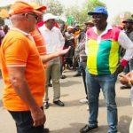 Des responsables de la coalition lors d'une marche à Lomé (archives)
