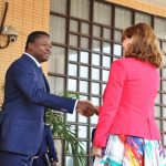 Faure Gnassingbé et Mme Ségolène Royal ce mardi à Lomé