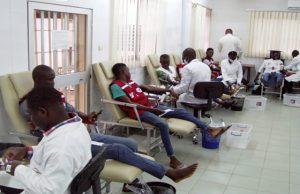 Opération de don de sang au CNTS à Lomé