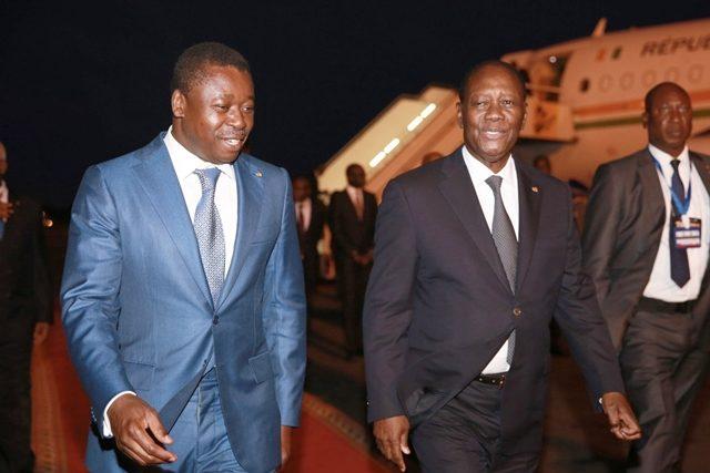 Faure Gnassingbé et Alassane Ouattara ce dimanche à Lomé