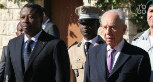 Faure Gnassingbé et Shimon Peres en 2012 à Jérusalem
