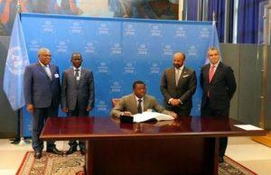 Faure Gnassingbé signe l'accord de Paris sur le climat