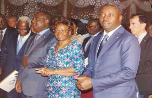 Faure Gnassingbé et son gouvernement à la messe pour le sommet