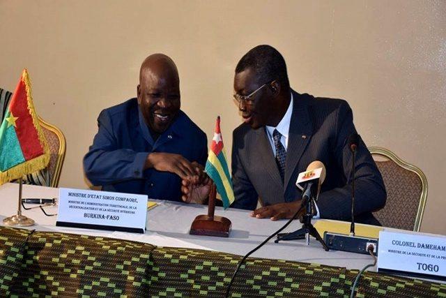 Le ministre burkinabé et togolais, Yark Damehame