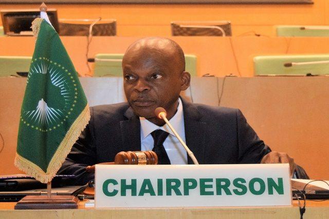 Le patron de la diplomatie togolaise, Pr. Robert Dussey présidant la session du CPS