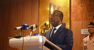 Le Premier ministre, Komi Sélom Klassou ouvrant les travaux
