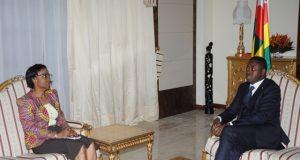 Olatokunbo IGE et Faure Gnassingbé ce mercredi Lomé