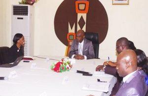 Séance de travail de la mission avec le ministre Robert Dussey