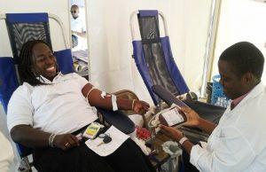Une opération de don de sang