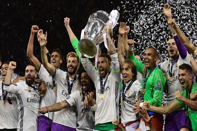 Le Real Madrid, vainqueur de la Ligue européenne des champions 2017
